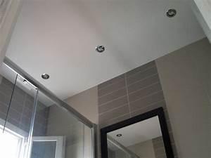 emejing faux plafond salle de bain spot ideas design With faux plafond de salle de bain