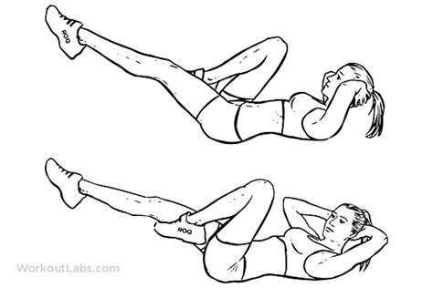 Modified Bicycle Exercise by Bicycles To Knee Crunches Cross Crunches