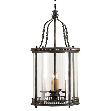 lantern pendant light black gardner vintage glass panels french black 4 light lantern