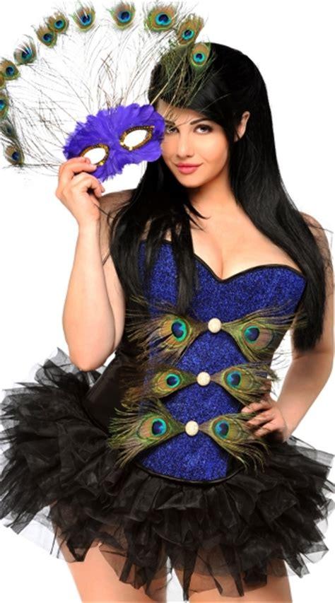 Plus Size Peacock Masquerade Corset Costume Plus Size Sexy Peacock Costume Plus Size Bird ...