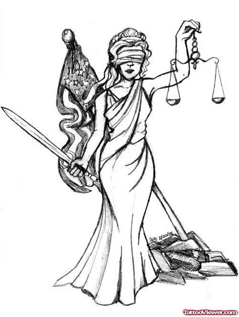 Blind Lady Justice Tattoo Design | Tattoo Viewer.com