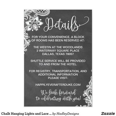 chalk hanging lights  lace wedding invitation zazzle