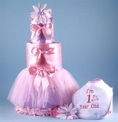 st birthday diaper cake baby girl gift silly phillie