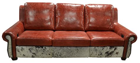 Cowhide Sectional Sofa by Rustic Rodeo Cowhide Sofas Cowhide Couches