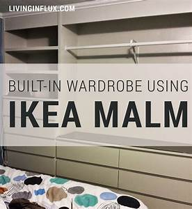 IKEA Hack: Built-In Wardrobe Using Malm Dressers - Living