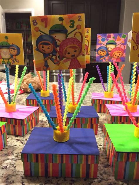 Dollar Tree Birthday Decorations - team umizoomi table centerpieces mostly dollar tree
