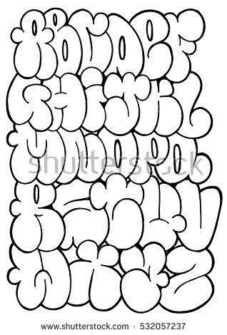 alphabet letters in graffiti bubbles graffiti letters sle letter template