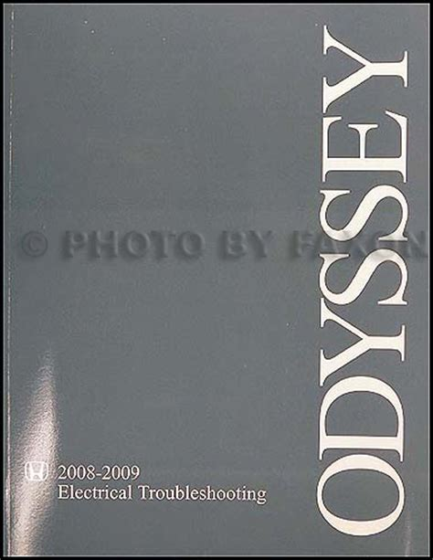 vehicle repair manual 2008 honda odyssey on board diagnostic system 2008 2009 honda odyssey electrical troubleshooting manual original
