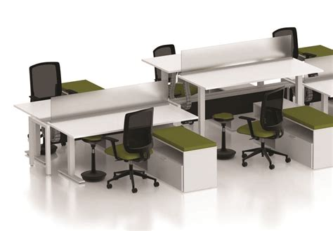 Of Ades Cluster Of Person L Shape Office Desk Cubicle