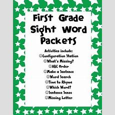 First Grade Sight Word Packets  Sight Words, Words And Homework