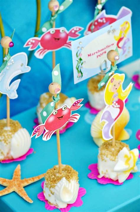 sea mermaid birthday party printables supplies