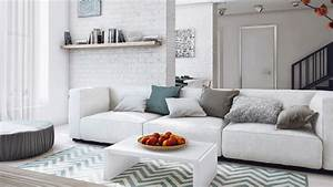 15 Modern White and Gray Living Room Ideas | Home Design Lover