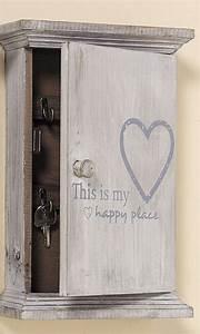 Schlüsselkasten Aus Holz : schl sselkasten schl sselbox grau shabby ablage aus holz mit herz happy place ~ Frokenaadalensverden.com Haus und Dekorationen