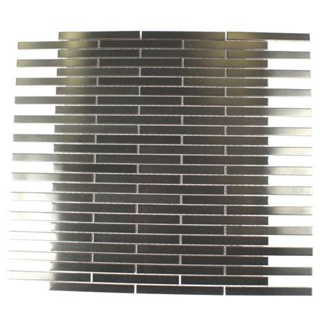stainless steel tile splashback tile metal silver stainless steel stick 12 in