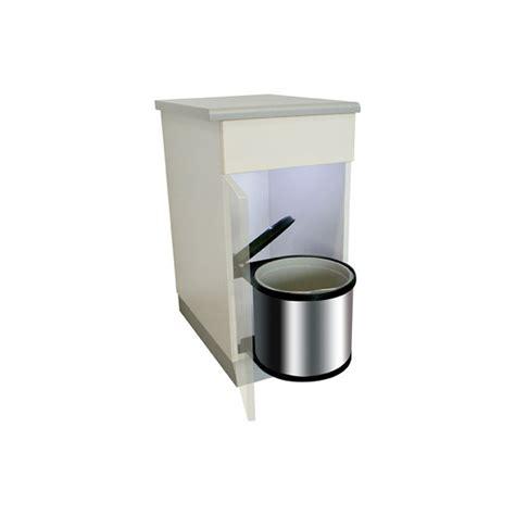 poubelle de cuisine encastrable poubelle ronde en inox 1 bac 12 litres ilovedetails