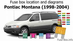 Fuse Box Location And Diagrams  Pontiac Montana  1998