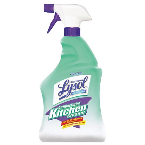 professional lysol antibacterial kitchen cleaner