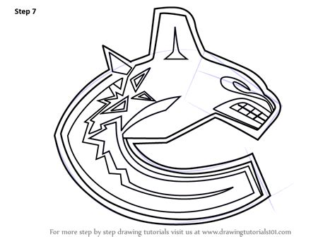 learn   draw vancouver canucks logo nhl step  step drawing tutorials