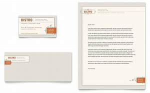 bistro bar business card letterhead template word With restaurant letterhead templates free