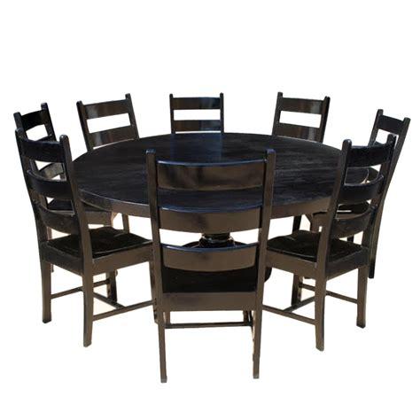 black dining room table set nottingham rustic solid wood black dining room table set