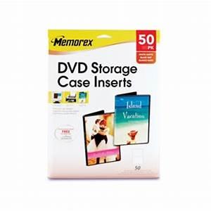 Memorex Case Template Buy The Memorex 32020716 50 Pack Dvd Storage Case Inserts