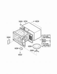 Lg Lma1560sb Countertop Microwave Parts