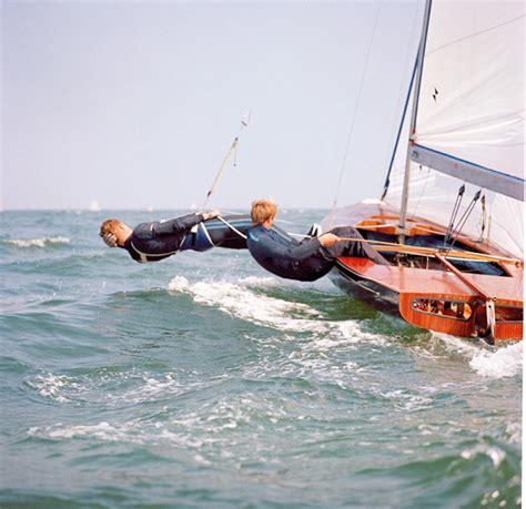 The Open Boat Ian Smith by Rodney Pattisson And Iain Macdonald Smith Sailing A Flying