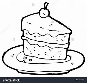 Slice Of Cake Drawing - Drawing Sketch Picture