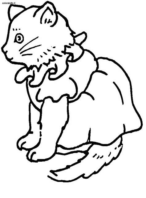 gatti disegni  bambini da colorare