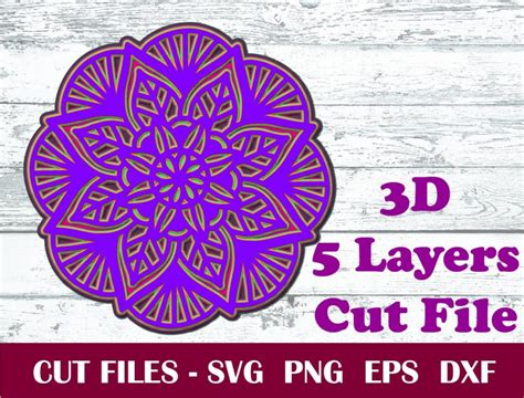 The design i use in this tutorial is the layered wheel mandala (design #192). 5 Layer 3D Mandala SVG, 5 Layer 3D Mandala Cut Files, SVG ...