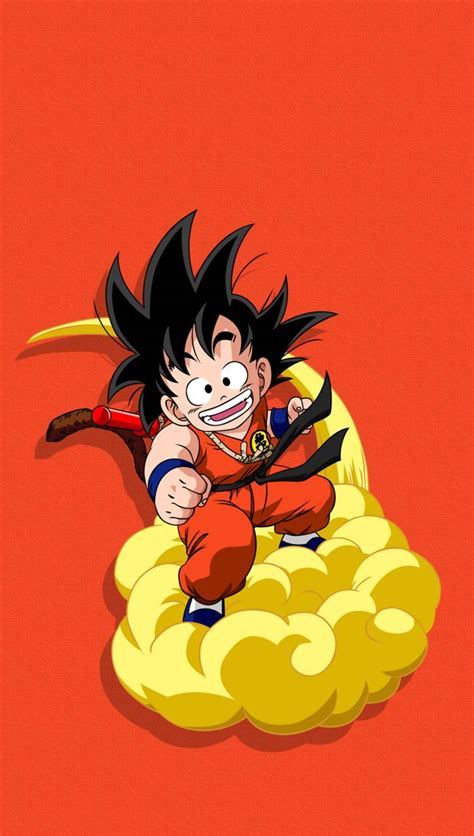 kid goku magic cloud wallpaper  ahdesign aa