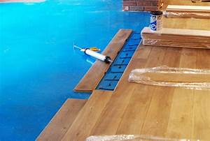 Gluing hardwood floors to concrete floor matttroy for How to put down hardwood floors on concrete