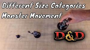 Different Creature Size Movement For D D 5e Youtube