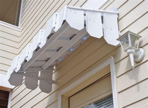 brookside door awning  flat side panels