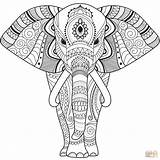 Coloring Elephant Zentangle Mandala Sheets Easy Printable Elefante Colorear Dibujos Elefant Imprimir Colouring Dibujo Seniors Animal Animals Gratis Pintar Mandalas sketch template