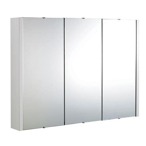 Wide Mirrored Bathroom Cabinet by Designer Cube 3 Door Mirrored Bathroom Cabinet Bathroom