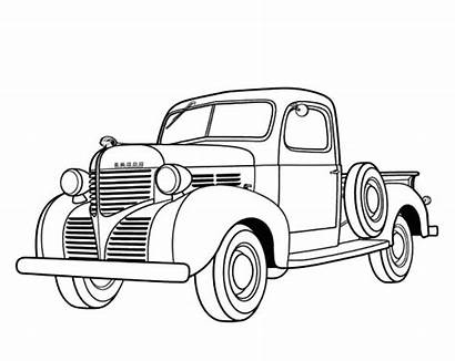 Coloring Pages Classic Dodge Pickup 1939 Antique