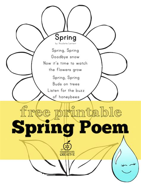 preschool short poems free printable poem for preschool kindergarten 114