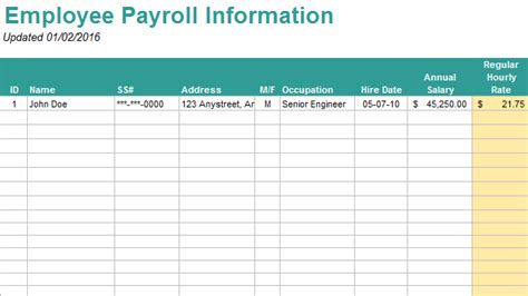 Free Payroll Template - wecanfixhealthcare.info