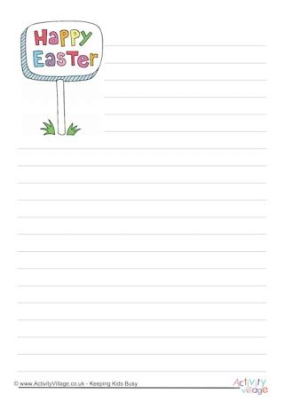 easter design writing paper