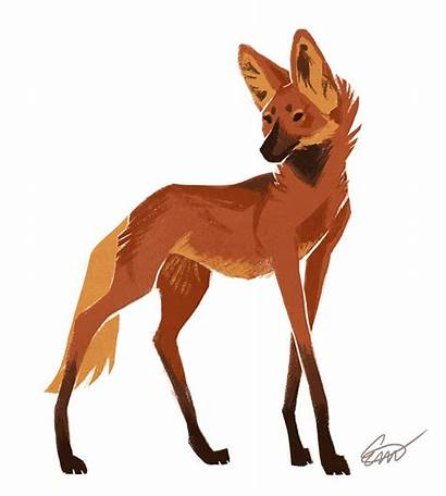 Maned Wolf Deviantart Animal Clipart Drawing Drawings