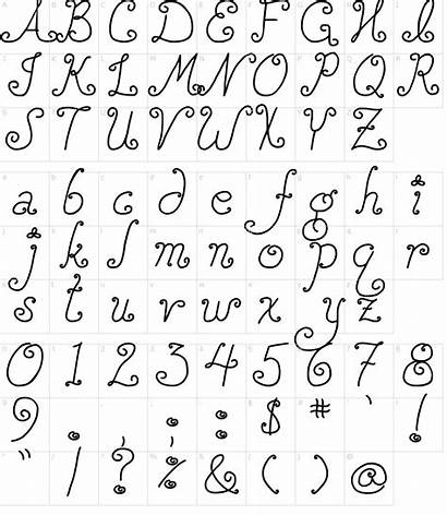 Font Squirly Djb Fonts Map