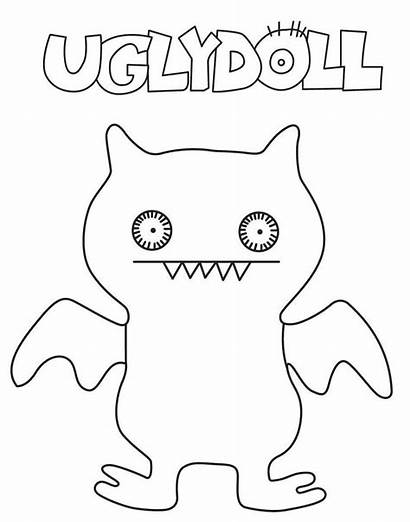 Coloring Ugly Uglydolls Dolls Colorear Bat Kolorowanki