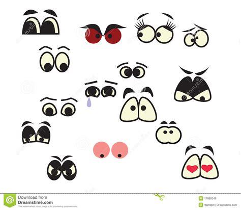 occhi del fumetto illustrazione vettoriale illustrazione