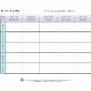 weekly menu With blank daycare menu template