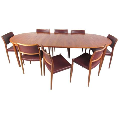 mid century modern teak dining set with model 80 n