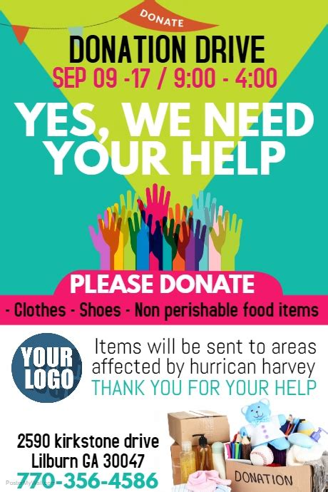 copy  donations postermywall
