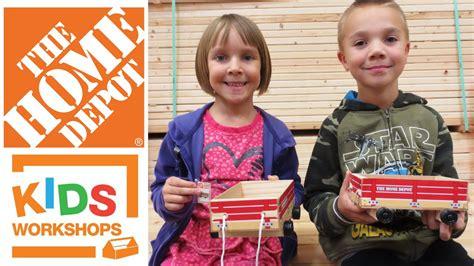 Home Depot Kids Workshop Build  Toy Wagon 352016