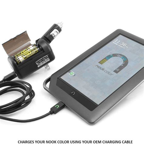 nook color charging cable will only charge nook color using your oem charging cable