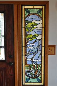 Paned, Expressions, Stained, Glass, Pattern, Blue, Heron, Sidelite, Fabricated, By, Steve, Fowler